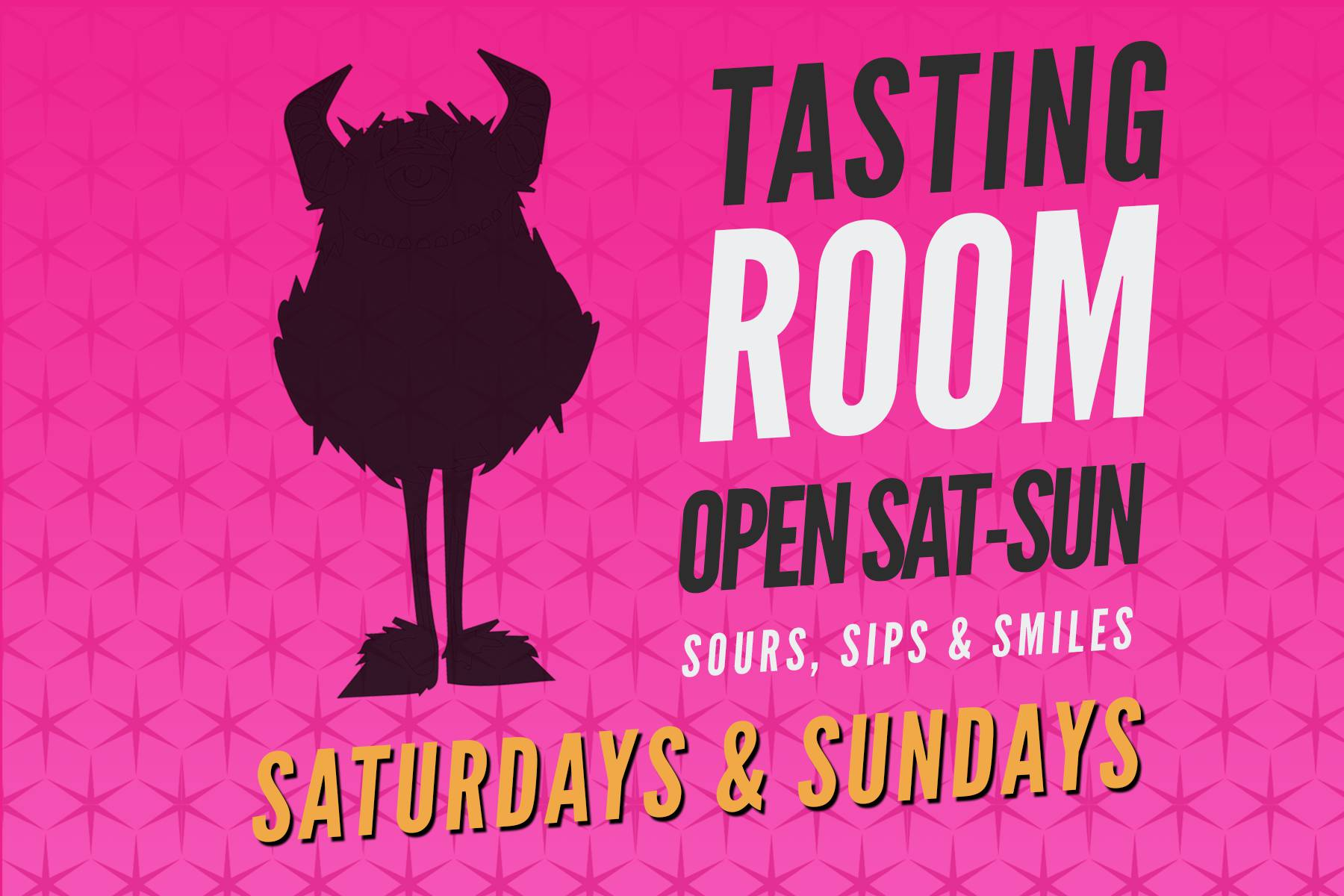 Tasting Room Open for the Weekends